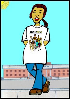 Timeliketoon characters t-shirt